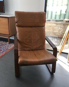 Mid-century leather chair
