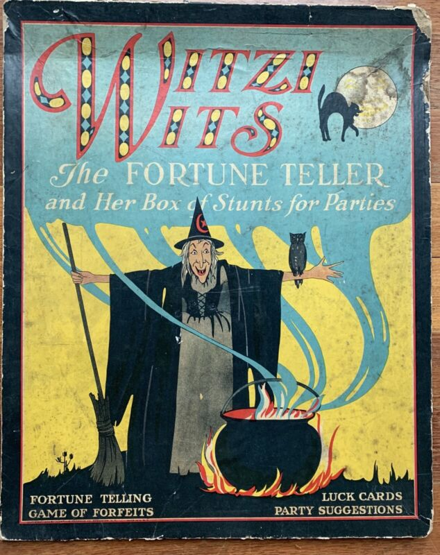 RARE Antique Witzi Wits Fortune Teller Game *Vintage Halloween Collectible