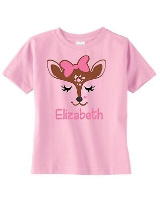 Fawn Deer Face Eyes Toddler or Child T-Shirt  ~ Personalized  - Deer Face