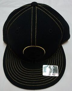 PITTSBURGH-STEELERS-BLACK-REEBOK-FITTED-CAP-SIZE-7-1-4