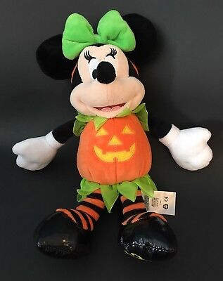 Disney Collection Minnie Mouse Orange Pumpkin Plush Toy Doll Date 2017 Halloween - Date 2017 Halloween