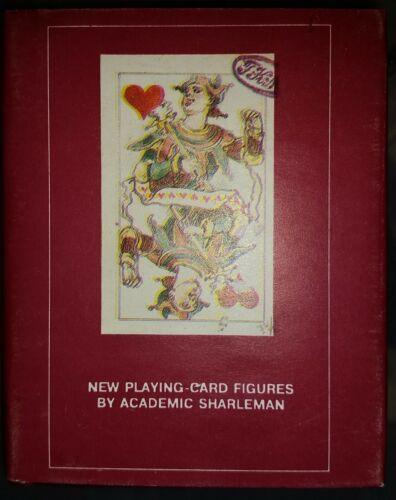 "Vintage 1995 Mini 4"" Book Playing Cards Academic Sharleman English Russian Art"