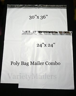 2 Xx-large Poly Bag Envelope Mailer Combo 24x 24 30x 36 2.5 Mil Quality