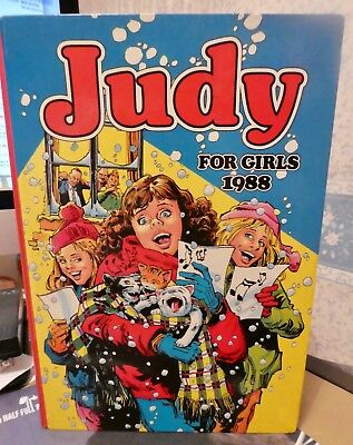 JUDY FOR GIRLS VINTAGE ANNUAL 1988 HB EXC COND COLLECTORS ITEM