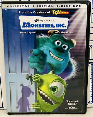 Disney Pixar Monsters Inc Collector's Edition 2 Disc Dvd Set Movie Kids Sully