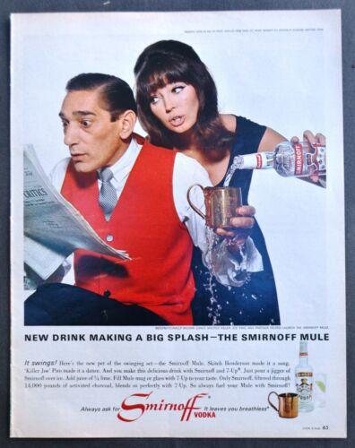 Vtg 1965 Smirnoff Vodka Killer Joe Piro advertisement print ad