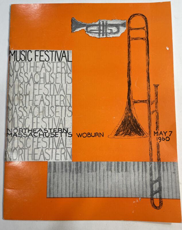 Vintage 1960 Northeastern Music Festival Booklet Woburn Massachusetts