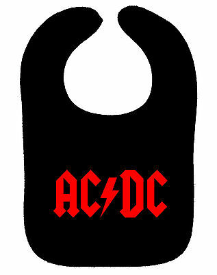 Dc-bib (AC/DC BIB ACDC BACK IN BLACK ROCK METAL MUSIC BAND BIB ASST COLOURS NEW BABY BIB)
