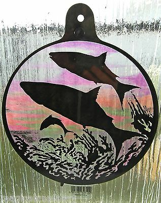 WINDOW SUNCATCHER MAGICAL OCEAN WHALES UNDER THE SEA STAINED GLASS EFFECT GIFT