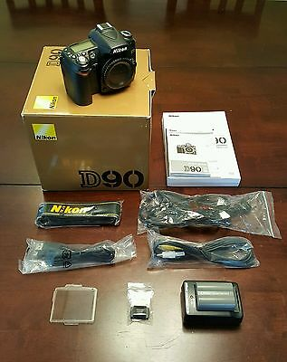 Nikon D D90 12.3 MP Digital SLR Camera - Black (Body Only)