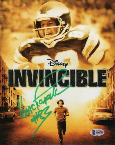 Vince Papale Autograph Signed 8x10 Photo - Philly Eagles Invincible (BAS COA)