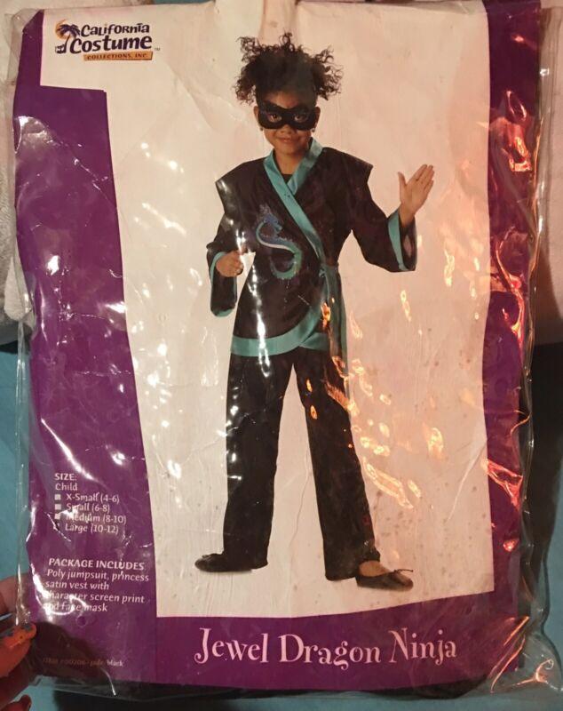 Jewel Dragon Ninja Halloween Costume Childs Large 10/12