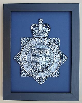 Large Scale Framed BRITISH TRANSPORT POLICE Badge