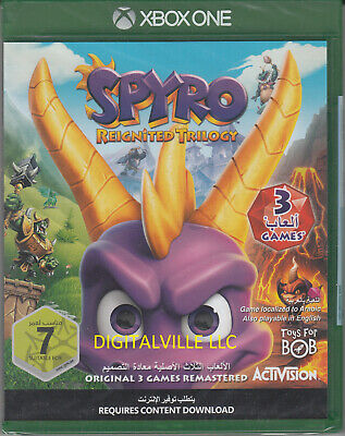 Spyro Reignited Trilogy Xbox One Brand New Factory Sealed Dragon
