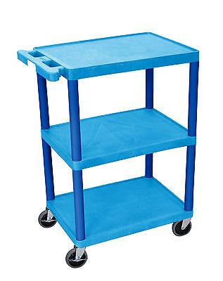 Luxor Flat Shelf Cart 3 Shelves Bustc222bu New