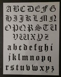 Old english stencil ebay old olde english alphabet custom stencil 85 thecheapjerseys Gallery