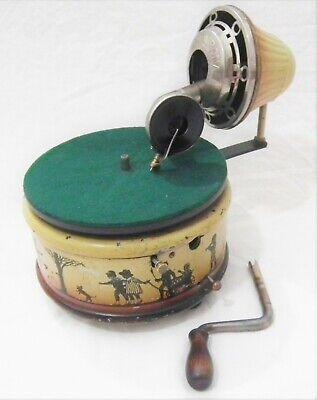 RARE VINTAGE TABLE TOP NIFTY NIRONA PHONOGRAPH GRAMOPHONE 78 RPM RECORD PLAYER