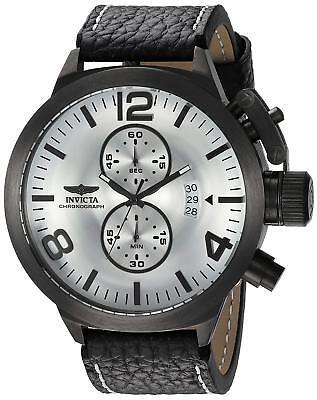 Invicta 23690 Corduba Men's 52mm Gunmetal Stainless Steel Silver Dial Watch