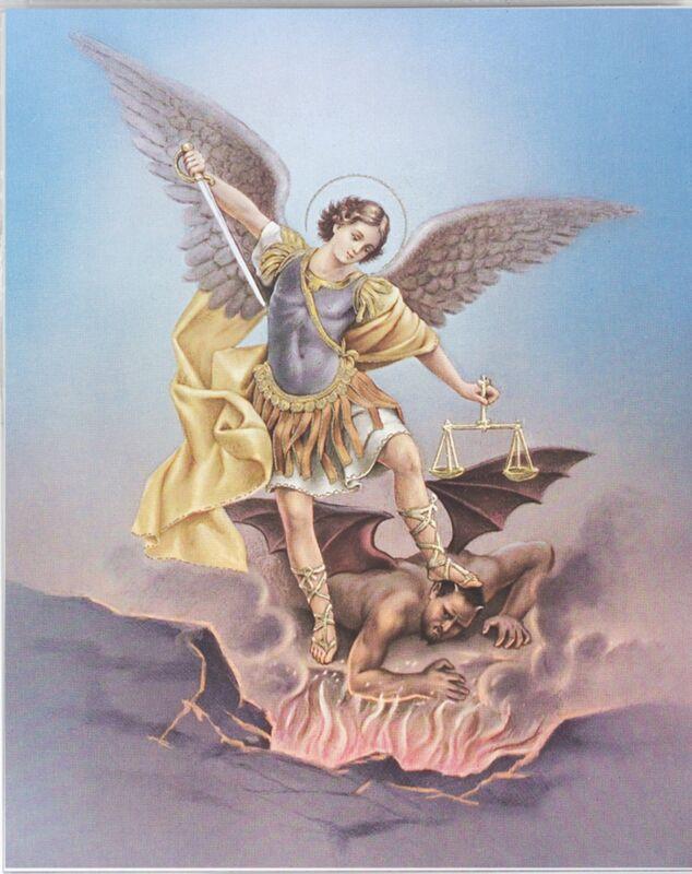 Saint Michael Archangel Picture 8x10 Print Photo For Framing