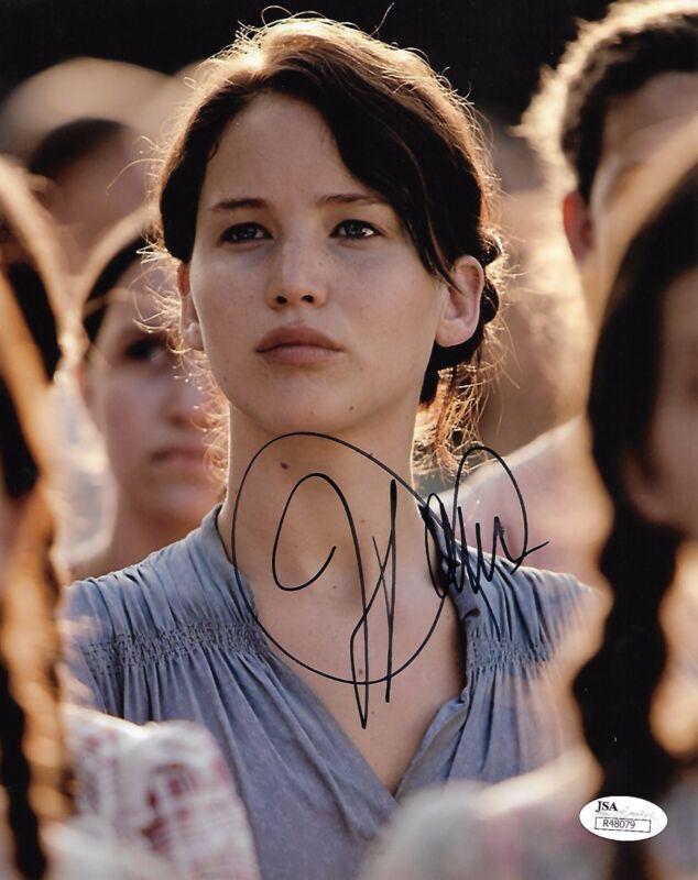 Jennifer Lawrence Autographed Signed 8x10 Photo JSA COA #6 ***rare signature***