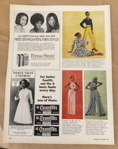 Perma Strate hair straightener ad 1972 orig vintage print 1970s retro art beauty