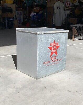 Vintage Antique Anderson Dairy Las Vegas, Nevada Milk Bottle Dairy Porch Box