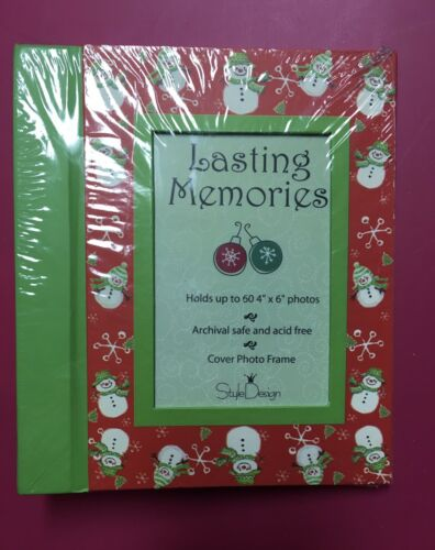 Snowman Christmas Memories 4x6 Photo Album Holds 60 Photos - $5.00