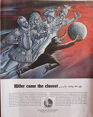 Hitler, Napoleon, other Tyrants Try to Conquer the World, original WWII Ad