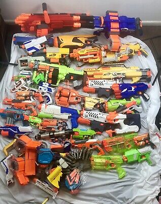 huge lot of nerf guns 60+ pcs vortex rino fire Mastodon 0