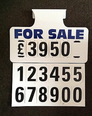 10 X For Sale Visor Price Sets, Car For Sale Signs, Boards, Sale Signs, Cars Van