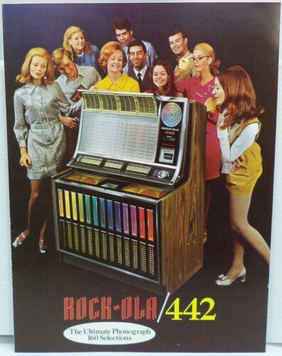 ROCK-OLA 442 Original 1970 Jukebox Sales Flyer Fold-Out Sales Brochure 8.5 x 11