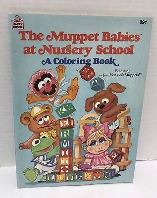 Vtg 1986 Jim Henson Muppet Babies Coloring Book Unmarked
