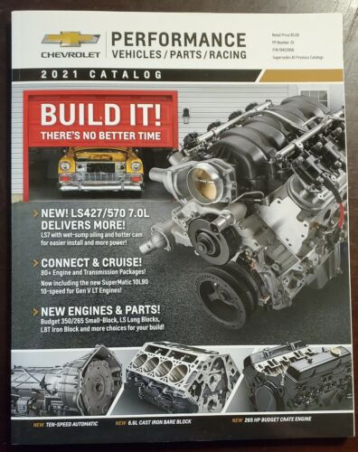 Chevrolet Racing 2021 Performance Parts Catalog Corvette - Over 225 Pages - New