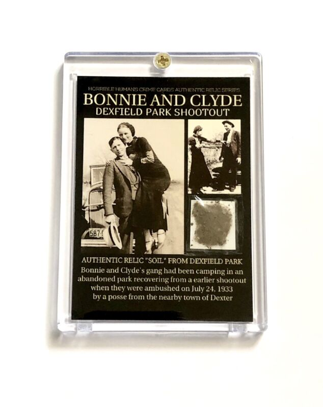 Bonnie And Clyde Authentic Relic Case / COA On Back