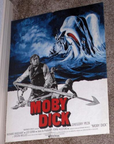 MOBY DICK original rare movie poster GREGORY PECK/RICHARD BASEHART/LEO GENN