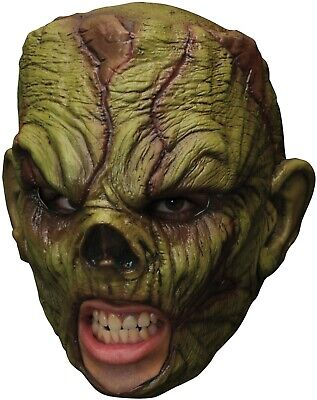 Monster Chinless Mask Latex Full Over Head Scary Halloween Costume Accessory