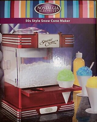 NEW Pottery Barn Kids Retro 50's Style Snow Cone Maker Machine🍧Nostalgia Shave