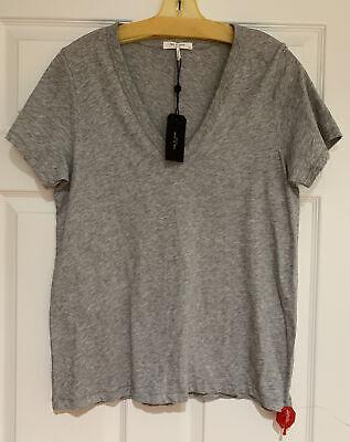 NWT Rag & Bone T-shirt Women's Gray Core Vee Tee Short Sleeve *Large*