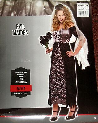 Damen Halloween Kostüm Gr. M Evil Maiden Gothic Braut Fasching Karneval