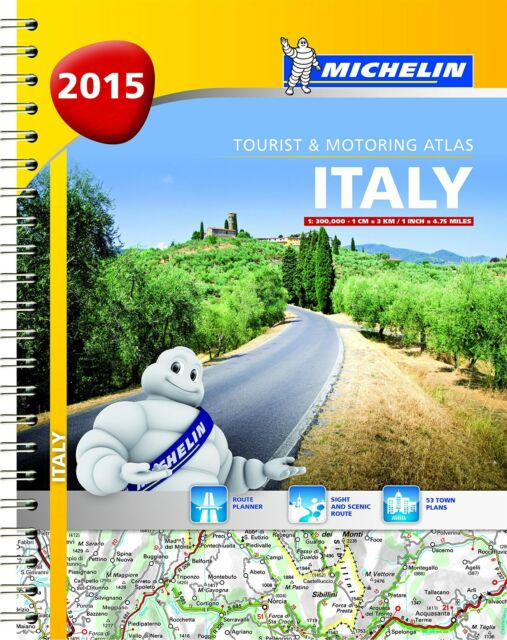 Italy 2015 - Michelin tourist & motoring atlas A4 Spiral - 9782067200760