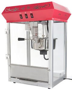 New 8oz Red Popcorn Popper Maker Machine