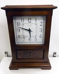 BULOVA  MANTEL CLOCK -THE ST. LOUIS - WITH HARMONIC CHIMES B1655