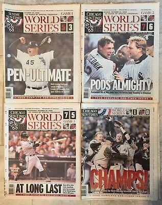 Lot Of 4 2005 Chicago White Sox  All 4 Games Of The Series  Sun Times Newspapers