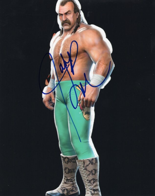 Jake The Snake Roberts WWF Wrestling Signed 8x10 Photo w/COA #1