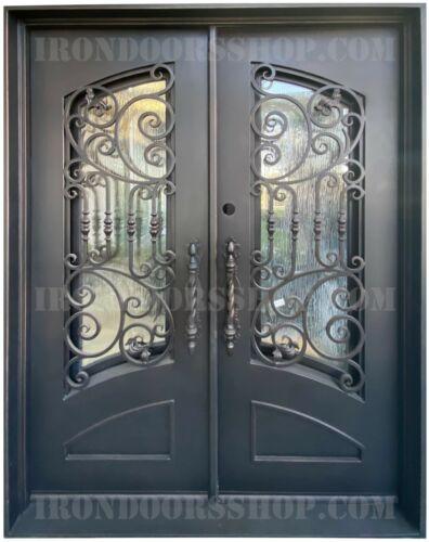 Nice Wrought Iron Double door Operable Glass in Dark Bronze (In-Stock)