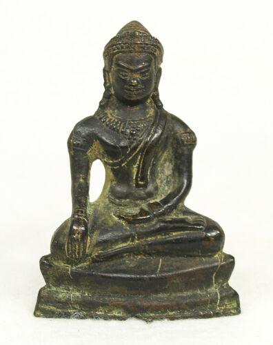 Antique Burmese Bronze Buddha Sculpture Statue 17-18 century