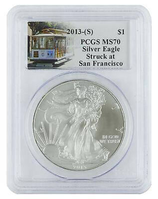 2013(S) - 1oz American Silver Eagle MS70 PCSG - Trolley