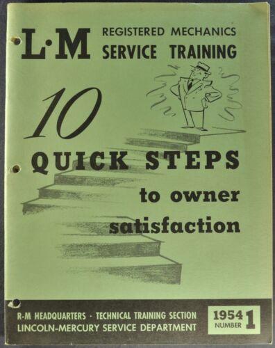 1954 Lincoln Mercury Service Training Book Monterey Capri Cosmopolitan Original
