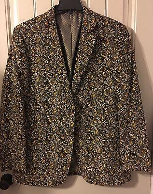 NEW Alan Flusser Mens Classic Suit SIze: L  Color: Brown Mult MSRP:225