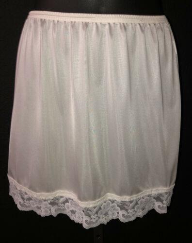~ Vintage LORRAINE White Nylon Slip for Mini Skirt - Small S